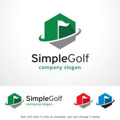 Simple Golf Logo Template Design Vector, Emblem, Design Concept, Creative Symbol, Icon