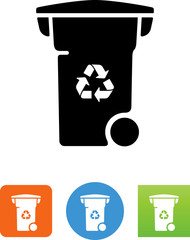 Recycling Bin Icon - Illustration
