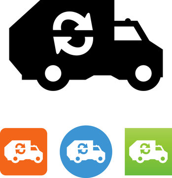 Recycling Truck Icon - Illustration