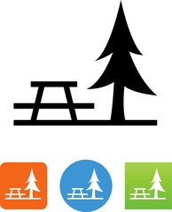 Rest Area Icon - Illustration