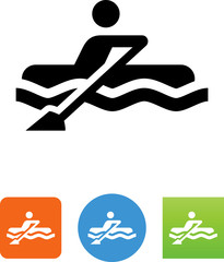 Rowboat Icon - Illustration