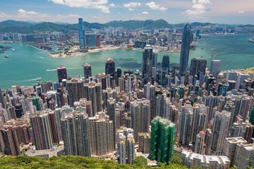 香港・ビクトリアピークからの景色 日中