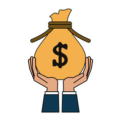 bag of money icon image vector illustration design