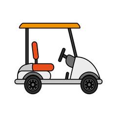 golf cart icon image vector illustration design