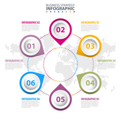 Business Infographics design template illustration