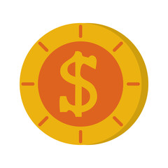 coin money icon image vector illustration design