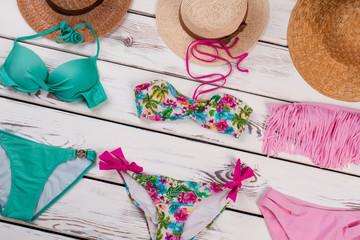 Female beach accessories.