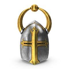 3D rendering of medieval helmet.