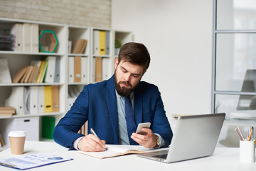 Modern Businessman Working in Office