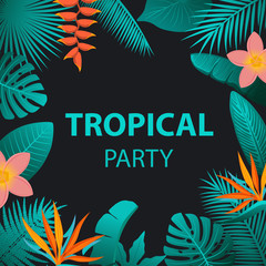 tropical night party background