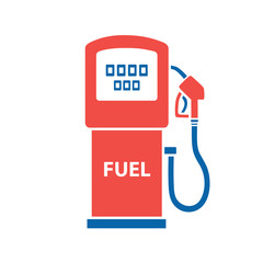 Gasoline fuel pump vector isolated. Gas or petrol filling station icon.