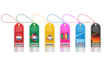 Price tag label with country barcode collection. Made in Netherlands. Vector EPS10