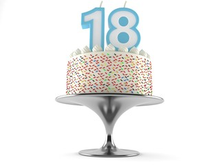 Cake with 18 number