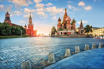 Door stickers Moscow Вечерний свет на Красной Площади Evening light on Red Square