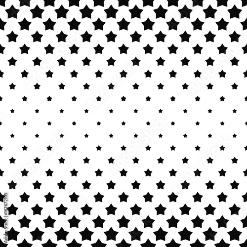 Black And White Star Pattern Background