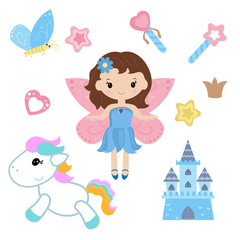 Fairy with magic design elements
