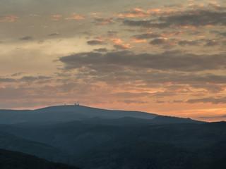 Sicht auf den Brocken/ Harz, von Wernigerode/ Agnesberg aus