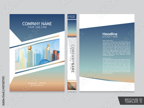 brochure template portfolio layout background cover book poster