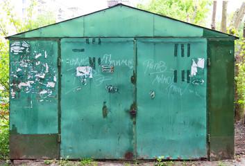 Metal garage, barn