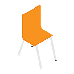 Orange chair isometric