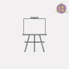 easel linear icon