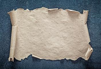 Vintage blank paper on black background