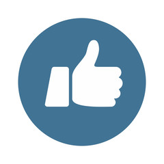 Like Icon Thumb Up Button - vector illustration