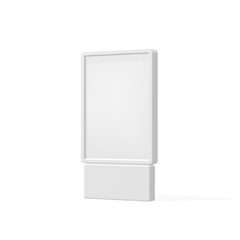 Outdoor white lightbox citylight advertising stand, isolated on white background. POS POI. Multimedia stand template. Vector illustration.