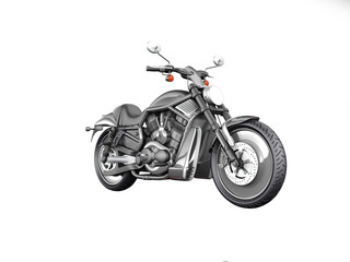 Modern Moto isolated on white