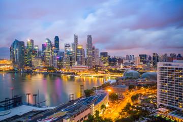 Fototapeta Singapore downtown skyline