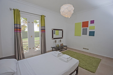 Interior design of bedroom in house