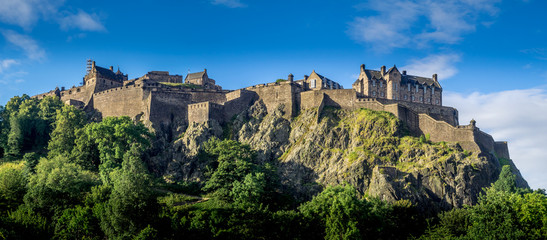 Panoramic image of Edinburgh Castle.