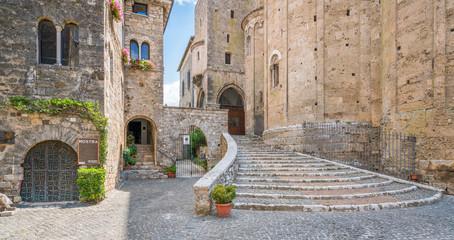 Scenic sight in Anagni, province of Frosinone, Lazio, central Italy. Wall mural