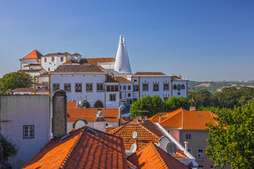 Fototapete - Sintra National palace building architectural view, Portugal