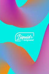 Cover template with abstract liquid objects. Applicable for design gift card, cover, poster, flyer or placard.