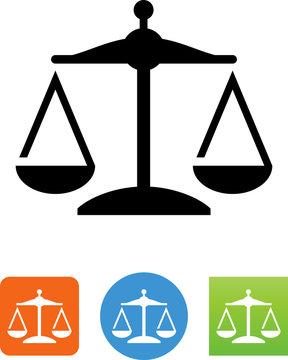 Scales Balance Icon - Illustration
