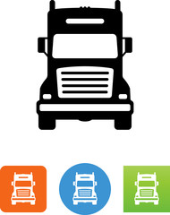 Semi Truck Front Icon - Illustration