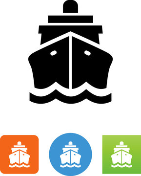 Ship Front View Icon - Illustration