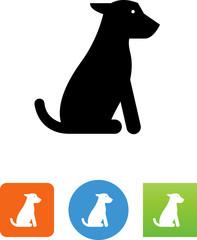 Sitting Dog Icon - Illustration
