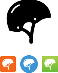 Skateboard Helmet Icon - Illustration