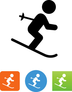 Skier Icon - Illustration