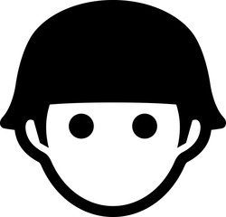 Soldier With Army Helmet Icon