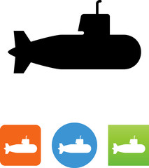Submarine Icon - Illustration