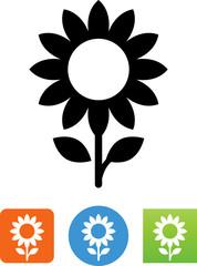 Sunflower Icon - Illustration