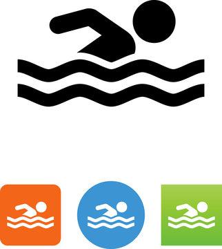 Swimming Icon - Illustration