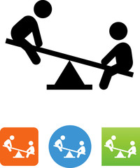 Teeter Totter Icon - Illustration