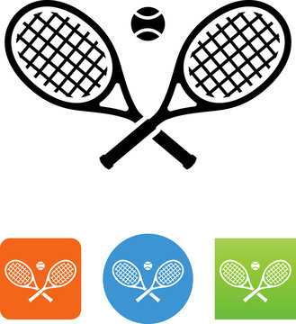 Tennis Rackets Icon - Illustration