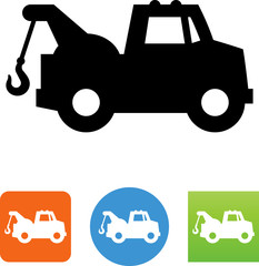 Towing Truck Icon - Illustration
