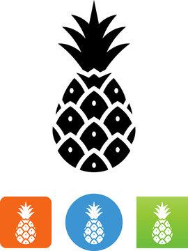 Tropical Pineapple Icon - Illustration