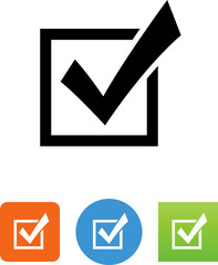 Vector Checkbox Icon - Illustration